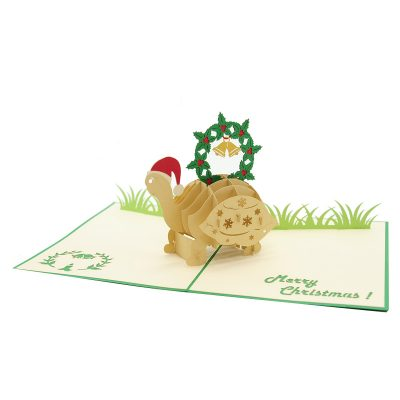Christmas turtle pop up card-pop up card wholesale-pop up card manufacturer-christmas pop up card1 (4)