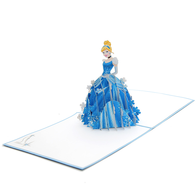 Cinderella pop up card- disney pop up card- pop up card for kids- pop up card manufacturer- pop up card wholesaler-CharmPop (5)