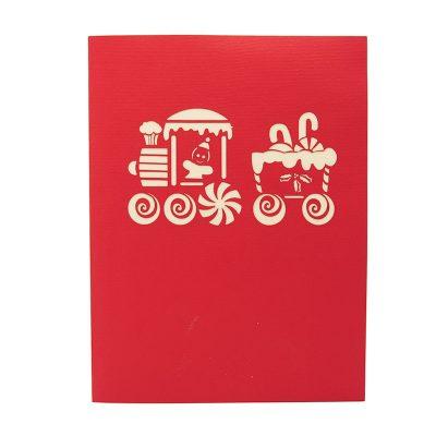 Gingerbread Train pop up card-pop up card wholesale-pop up card manufacturer-christmas pop up card (2)