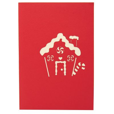 Gingerbread house pop up card-pop up card wholesale-pop up card manufacturer-christmas pop up card (1)