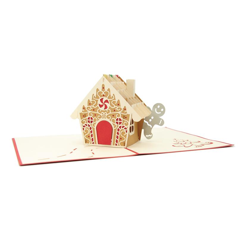gingerbread house pop up card christmas pop up card high. Black Bedroom Furniture Sets. Home Design Ideas