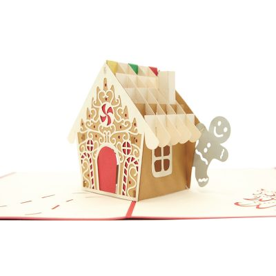 Gingerbread house pop up card-pop up card wholesale-pop up card manufacturer-christmas pop up card (4)
