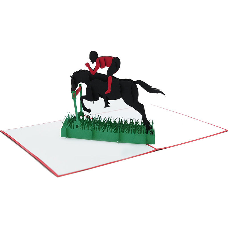 Horse-racing-pop-up-card-custom-pop-up-card-pop-up-card-manufacurer-pop-up-card-wholesaler-CharmPop-(2)
