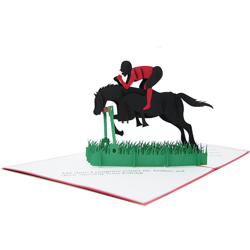 Horse racing pop up card-custom pop up card-pop up card manufacurer-pop up card wholesaler-CharmPop (3)