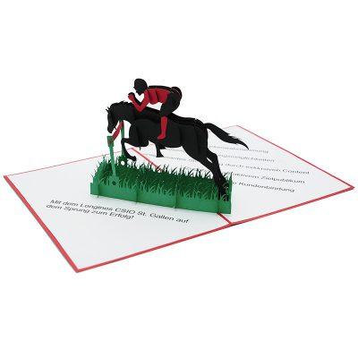 Horse racing pop up card-custom pop up card-pop up card manufacurer-pop up card wholesaler-CharmPop (4)