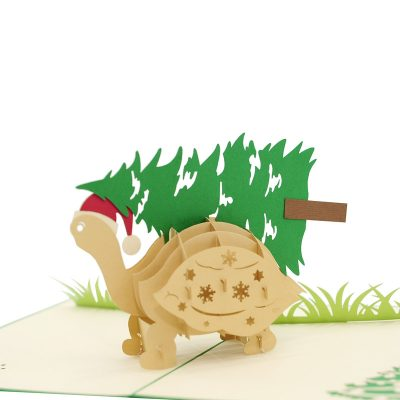 Pinrtree turtle pop up card-pop up card wholesale-pop up card manufacturer-christmas pop up card (1)