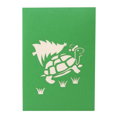Pinrtree turtle pop up card-pop up card wholesale-pop up card manufacturer-christmas pop up card (2)