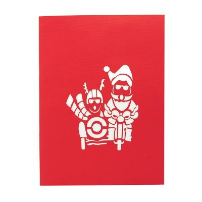 Santa side car pop up card-pop up card wholesale-popupcard manufacturer-Christmas pop up card 1 (1)