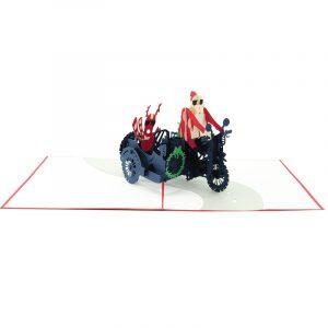 Santa side car pop up card-pop up card wholesale-popupcard manufacturer-Christmas pop up card 1 (2)
