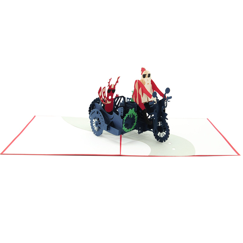 Santa side car pop up card-pop up card wholesale-popupcard manufacturer-Christmas pop up card 1 (2)