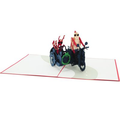 Santa side car pop up card-pop up card wholesale-popupcard manufacturer-Christmas pop up card 1 (3)