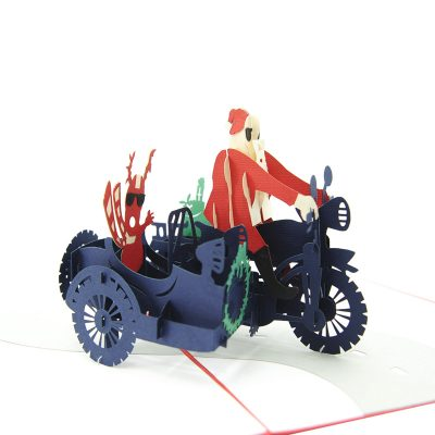 Santa side car pop up card-pop up card wholesale-popupcard manufacturer-Christmas pop up card 1 (4)