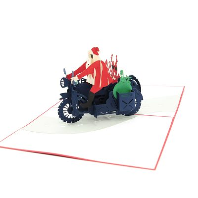 Santa side car pop up card-pop up card wholesale-popupcard manufacturer-Christmas pop up card 1 (5)