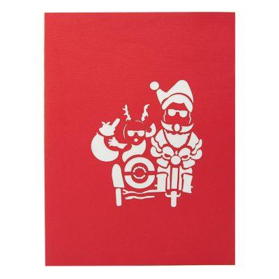 Santa side car pop up card-pop up card wholesale-popupcard manufacturer-Christmas pop up card (2)