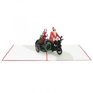 Santa side car pop up card-pop up card wholesale-popupcard manufacturer-Christmas pop up card (3)