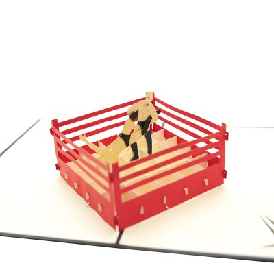 Wrestling pop up card–pop up card wholesale-popupcard manufacturer-Christmas pop up card (1)