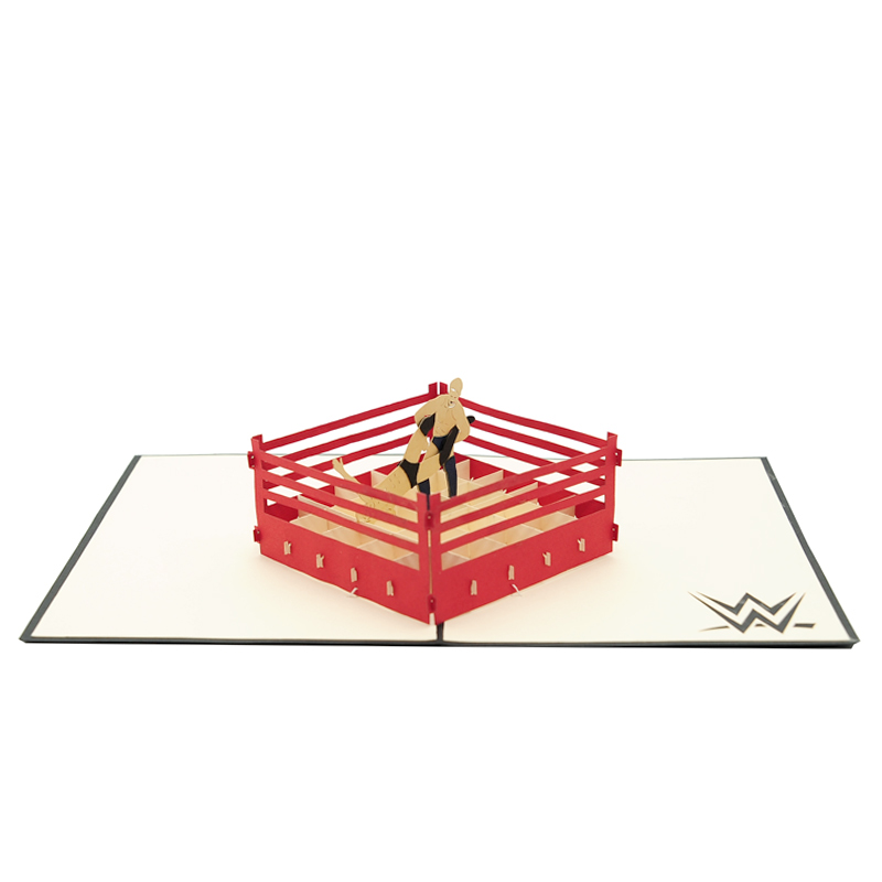Wrestling pop up card–pop up card wholesale-popupcard manufacturer-Christmas pop up card (3)