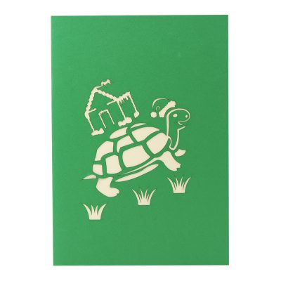 Xmas turtle pop up card-pop up card wholesale-pop up card manufacturer-christmas pop up card (2)
