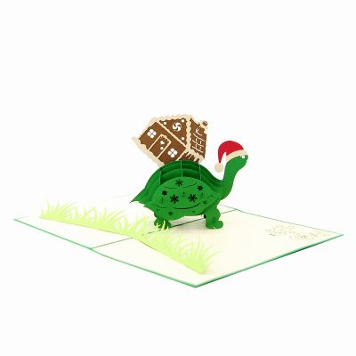 Xmas turtle pop up card-pop up card wholesale-pop up card manufacturer-christmas pop up card (3)