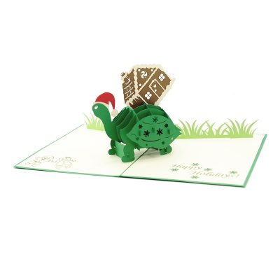 Xmas turtle pop up card-pop up card wholesale-pop up card manufacturer-christmas pop up card (4)