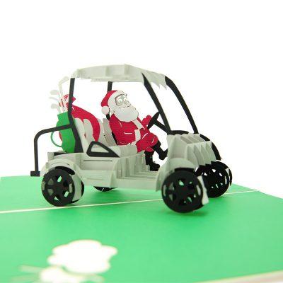santa golf pop up card- pop up card wholesale- pop up card manufacturer- pop up card Christmas-christmas 3d card (1)