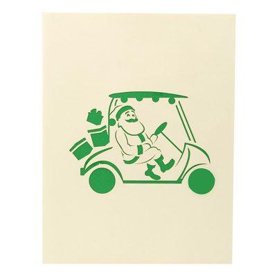 santa golf pop up card- pop up card wholesale- pop up card manufacturer- pop up card Christmas-christmas 3d card (2)