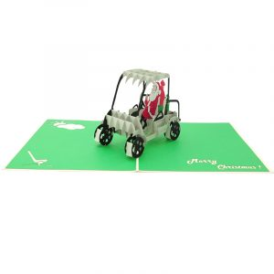 santa golf pop up card- pop up card wholesale- pop up card manufacturer- pop up card Christmas-christmas 3d card (3)