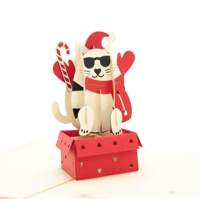 Christmas-Kitten-pop-up-card-manufacturer–pop-up-card-cat–pop-up-card-suplier-vietnam3