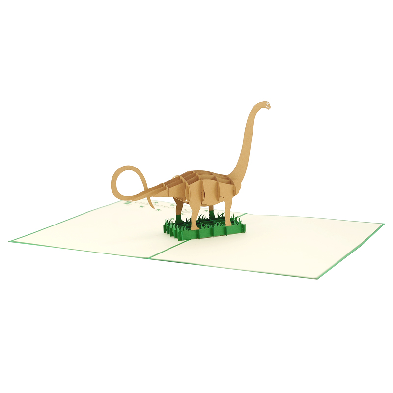 Dinosaur Pop Up Card Bazosaurus Birthday High Quality Whole Custom New Designs
