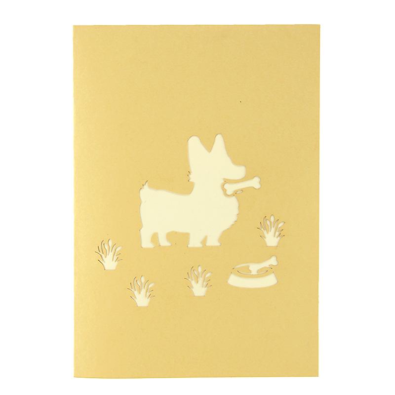 Dog house pop up card, corgi greeting cards, pop up birthday card ...