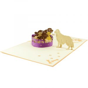 Puppy family pop up card- puppy pop up card- dog pop up card- pop up card manufacturer vietnam- pop up card dupplier vietnam (3)