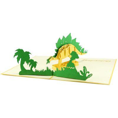 Stegosaurus pop up card- pop up card wholesale- pop up card manufacturer- pop up card vietnam (5)