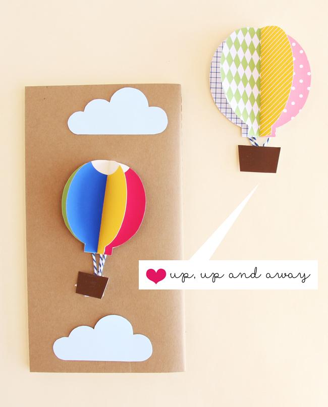 Diy pop up card hot air balloon pop up greeting cards kirigami 3d card manufacturer in vietnam