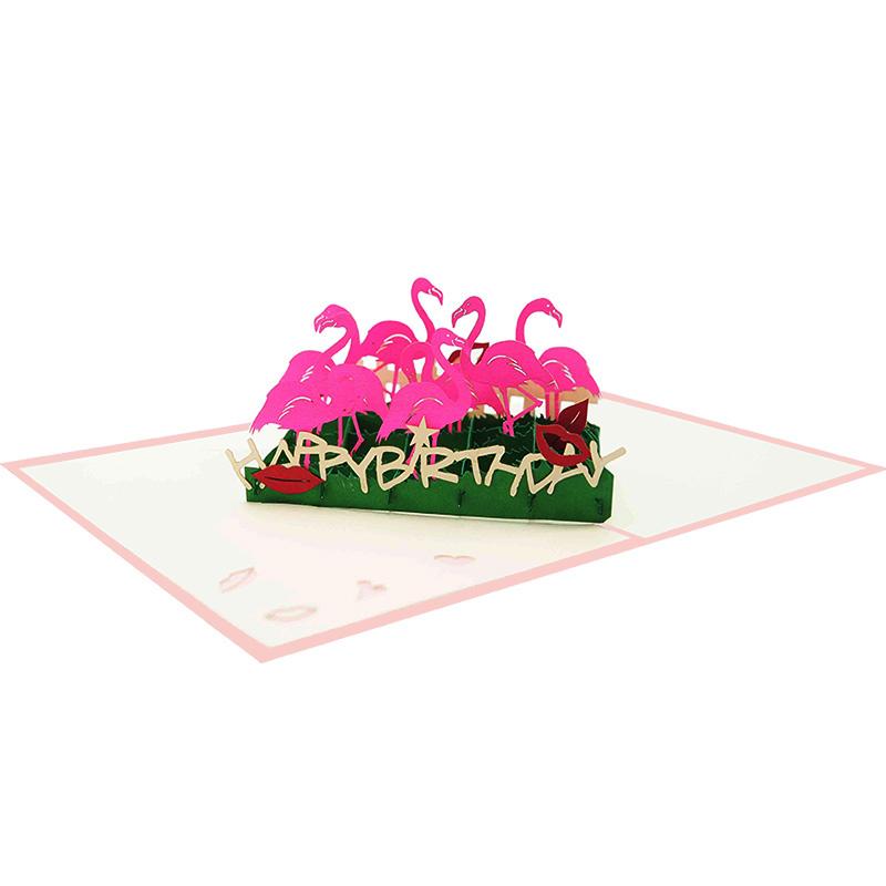 BG084 Pop Up Flamingo Greeting Cards