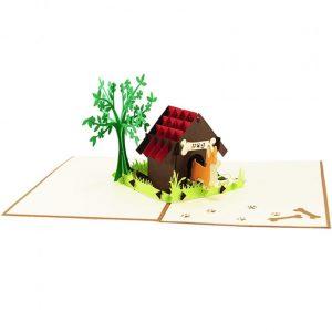 Dog house pop up card-pop up card manufacture-pop up cards supplier vietnam8