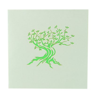 FL045G- Olive tree pop up card- pop up olive tree greeting cards- kirigami olive tree cards- olive greeting cards-Charmpop-cards (2)