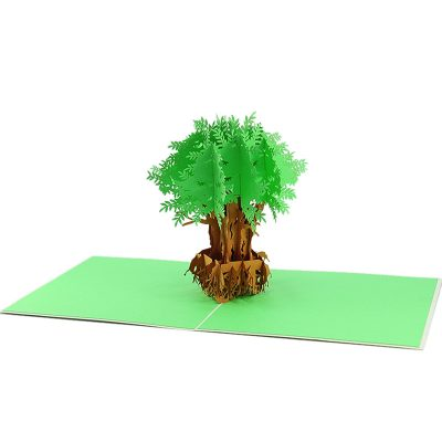 FL045G- Olive tree pop up card- pop up olive tree greeting cards- kirigami olive tree cards- olive greeting cards-Charmpop-cards (4)