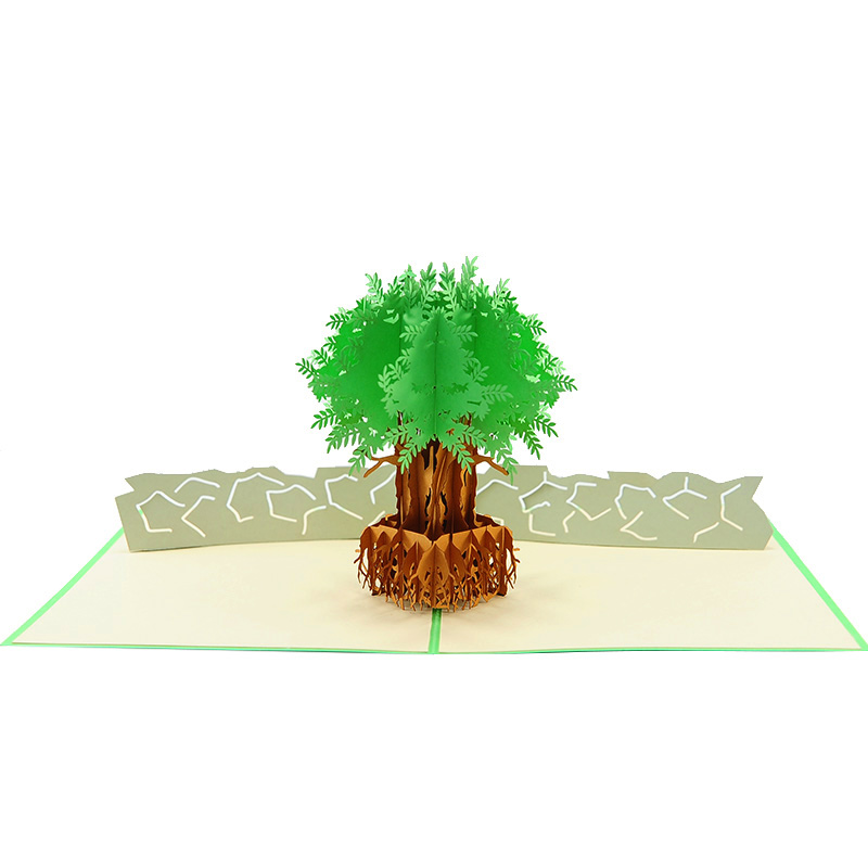 FL046C- Olive tree pop up card- pop up olive tree greeting cards- kirigami olive tree cards- olive greeting cards-Charmpop-cards (3)