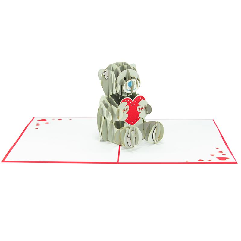 Love bear pop up card-pop up card manufacture-pop up cards supplier vietnam2