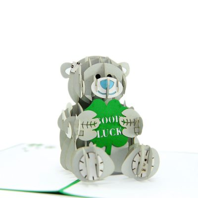 Lucky bear pop up card-pop up card manufacture-pop up cards supplier vietnam1