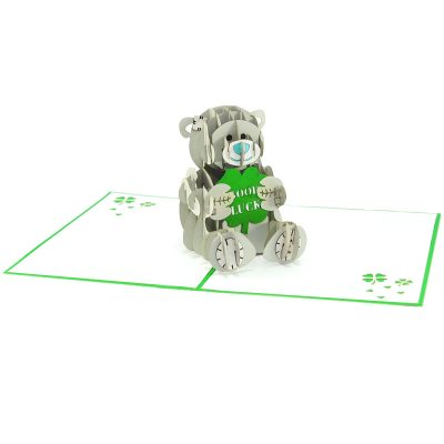 Lucky bear pop up card-pop up card manufacture-pop up cards supplier vietnam2