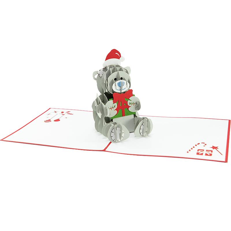 MC091-15×15-Noel bear pop up card- pop up Christmas me to you cards- me to you greeting card Christmas-Xmas tatty bear greetingcards-charmpop cards (2)