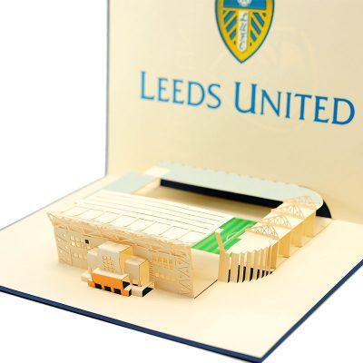 ST013- Leeds united greeting cards-pop up Leeds united greetingcards-kirigami leeds united cards-charmpop cards (1)