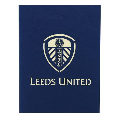 ST013- Leeds united greeting cards-pop up Leeds united greetingcards-kirigami leeds united cards-charmpop cards (2)