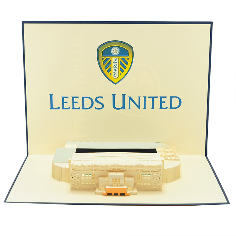 ST013- Leeds united greeting cards-pop up Leeds united greetingcards-kirigami leeds united cards-charmpop cards (3)