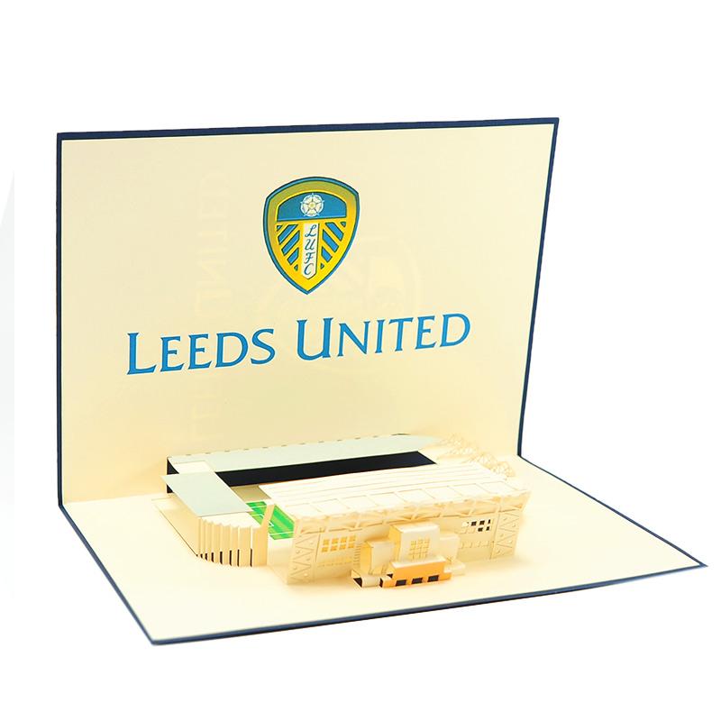 Leeds united pop up card custom pop card supplier charmpop uk m4hsunfo