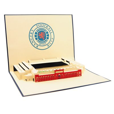 ST015- pop up Ranger greeting cards- greetingcards Ranger football club-kirigami stadium greeting cards- Rangers cards pop up- charmpop cards (1)