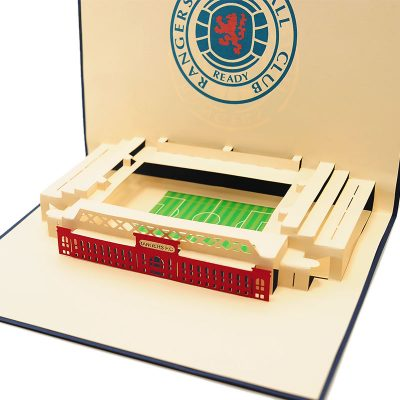 ST015- pop up Ranger greeting cards- greetingcards Ranger football club-kirigami stadium greeting cards- Rangers cards pop up- charmpop cards (2)