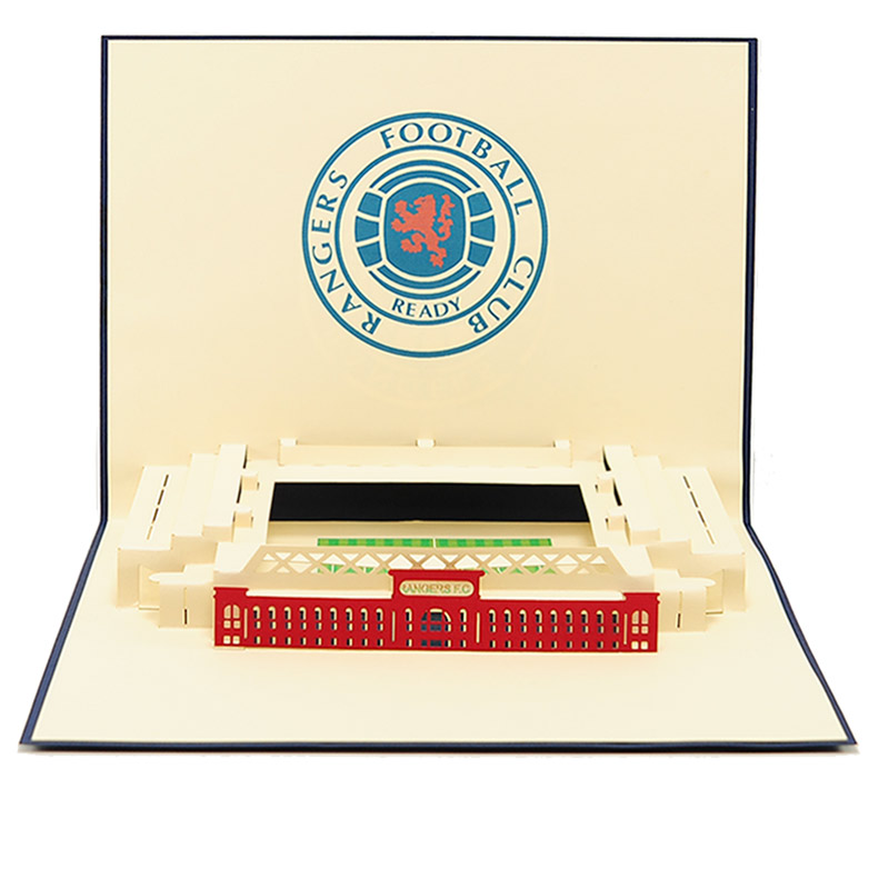 ST015- pop up Ranger greeting cards- greetingcards Ranger football club-kirigami stadium greeting cards- Rangers cards pop up- charmpop cards (4)