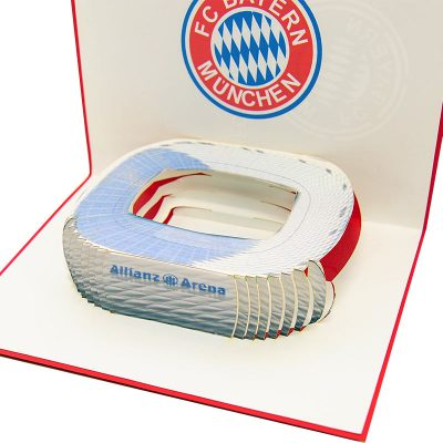 ST016- pop up Bayern Munchen greeting cards- greetingcards Bayern Munchen-kirigami stadium greeting cards- bayern munchen cards pop up- charmpop cards1 ) (1)